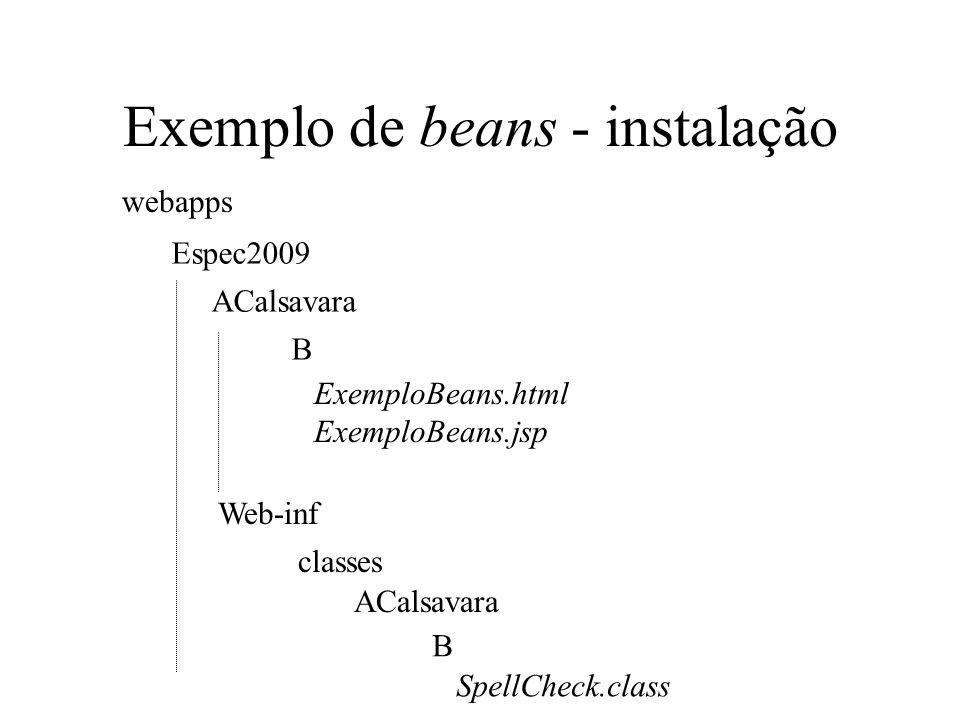 Exemplo de beans - instalação