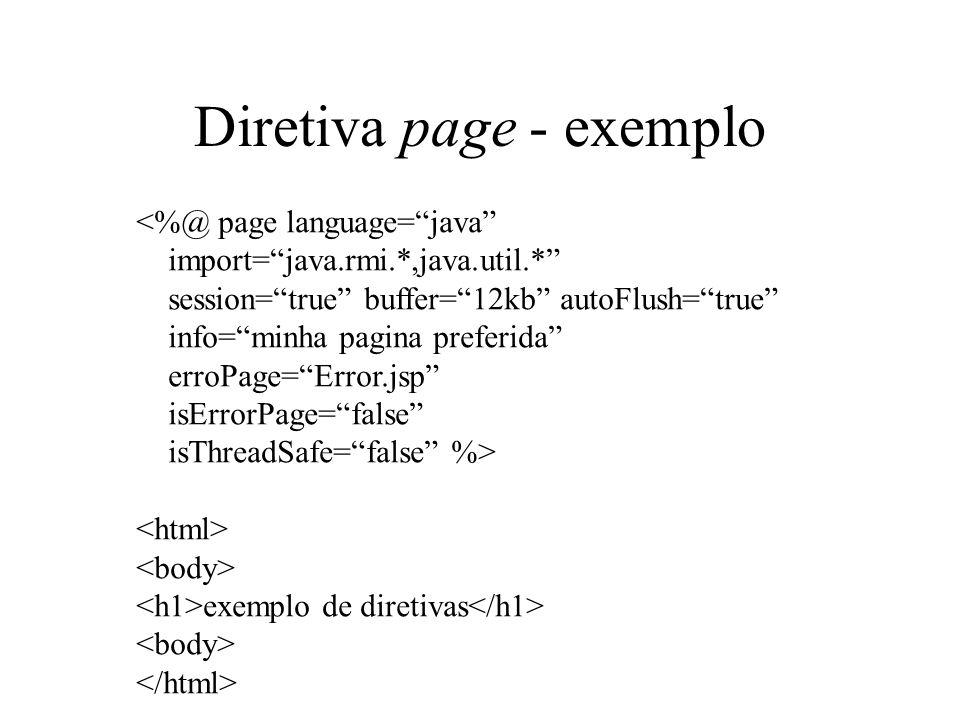 Diretiva page - exemplo
