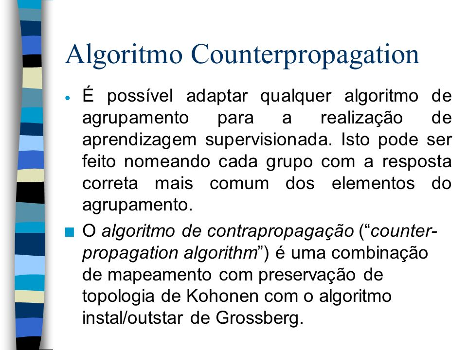 Algoritmo Counterpropagation