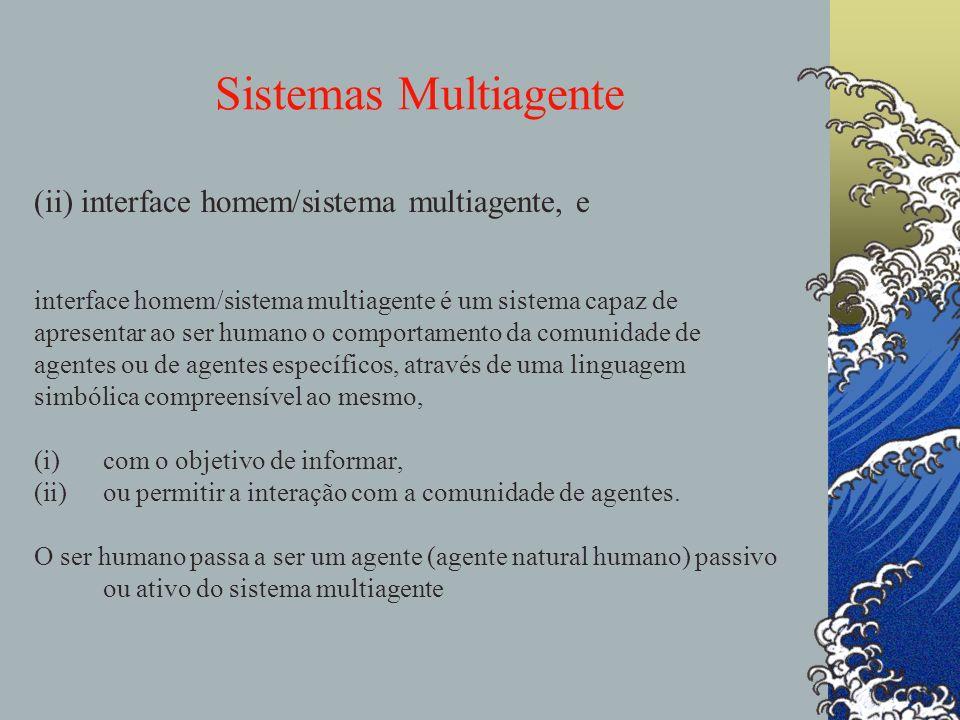 Sistemas Multiagente (ii) interface homem/sistema multiagente, e Uma