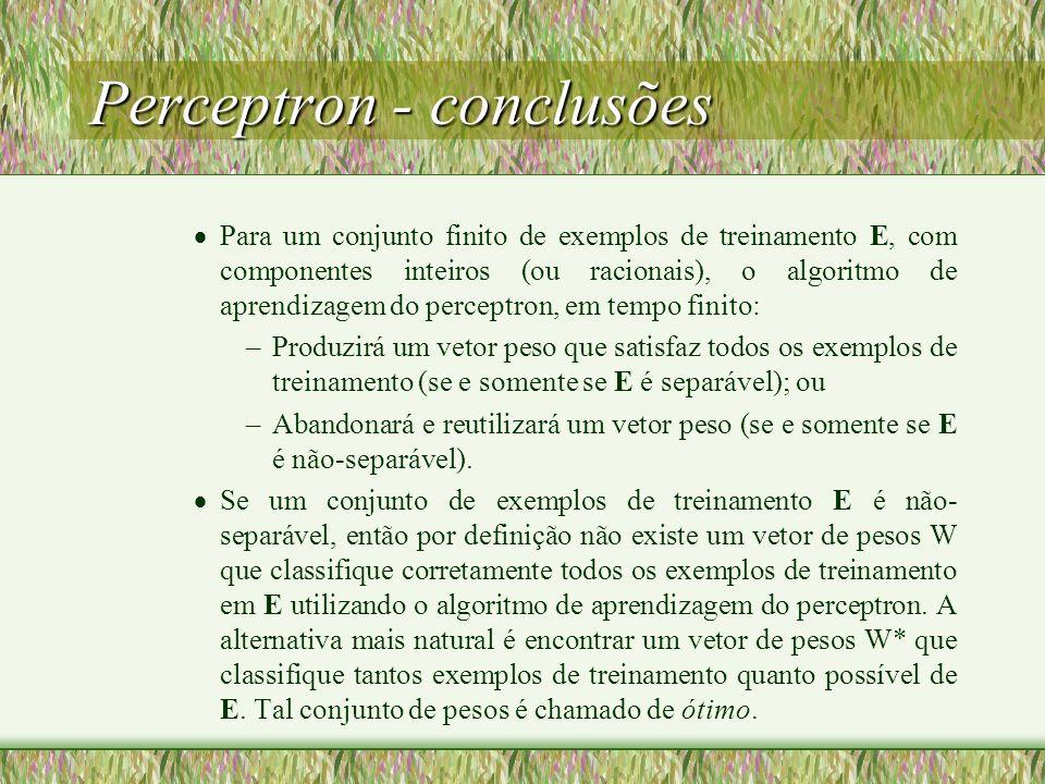 Perceptron - conclusões