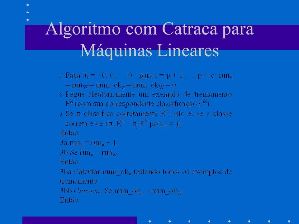 Algoritmo com Catraca para Máquinas Lineares