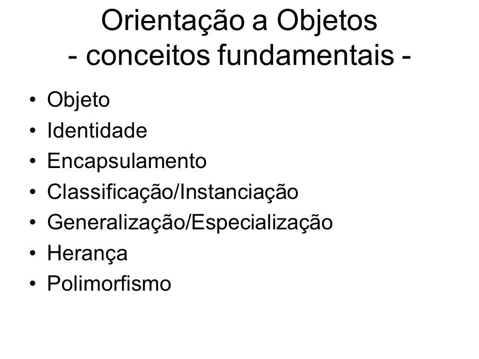 Orientação a Objetos - conceitos fundamentais -