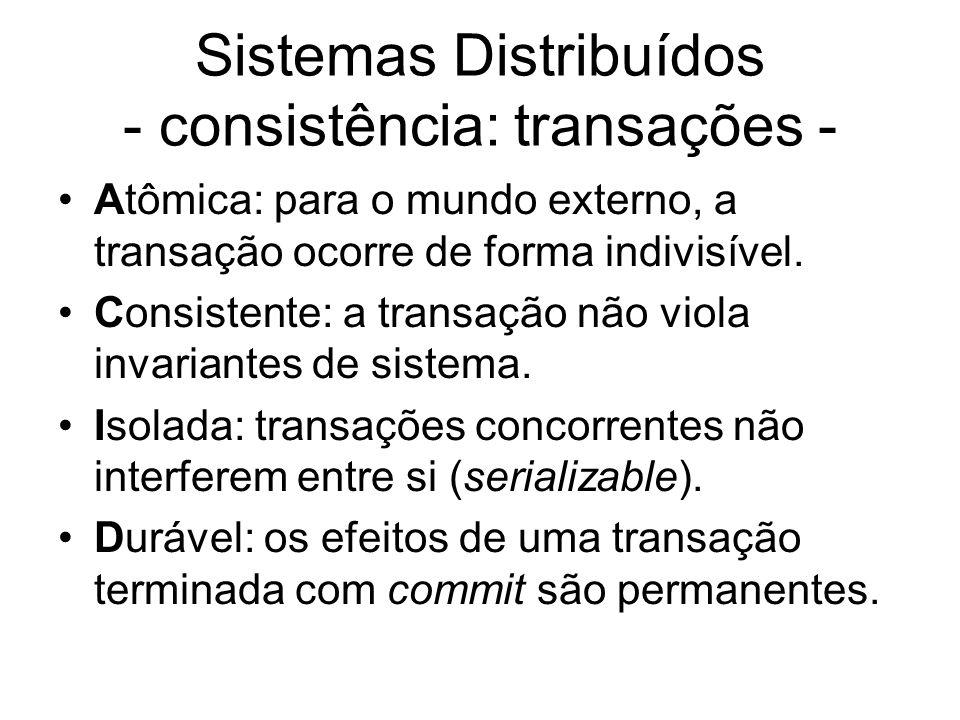 Sistemas Distribuídos - consistência: transações -