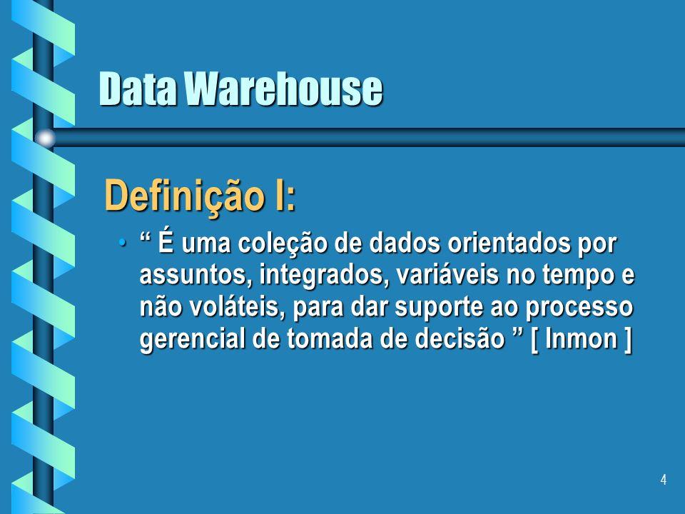 Definição I: Data Warehouse