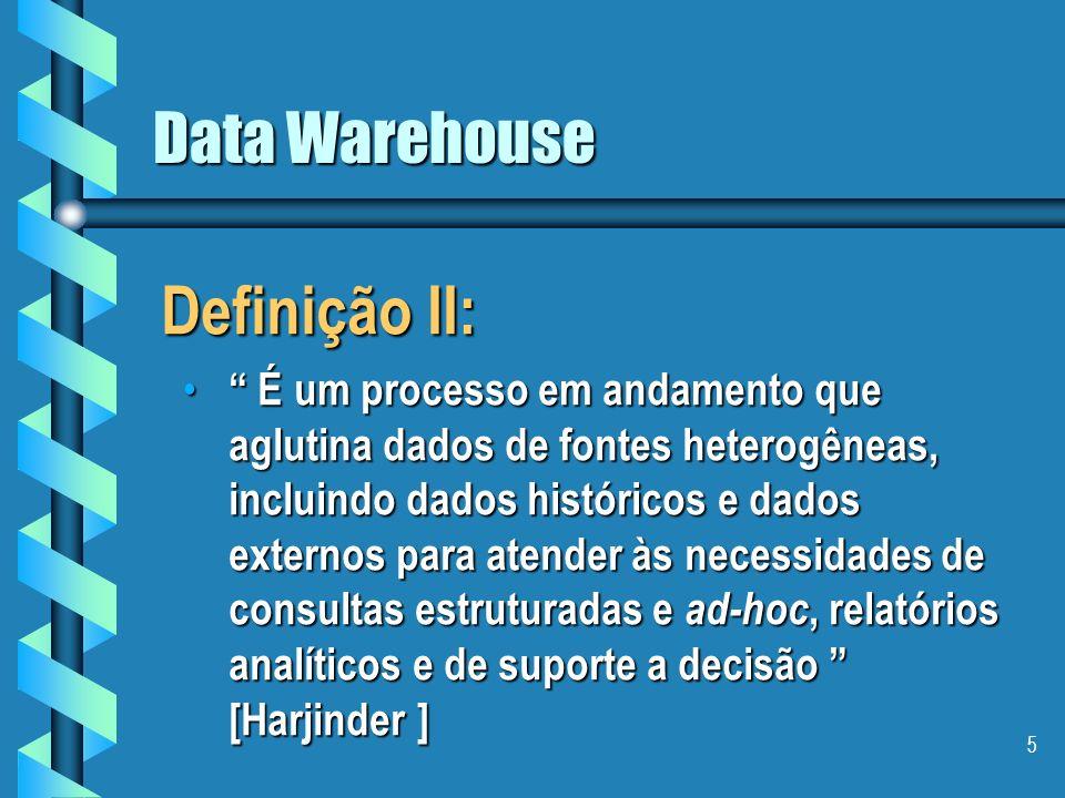 Definição II: Data Warehouse