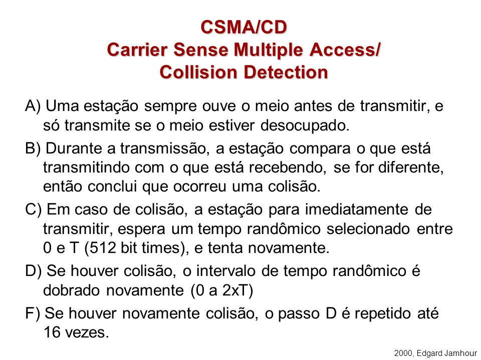 CSMA/CD Carrier Sense Multiple Access/ Collision Detection