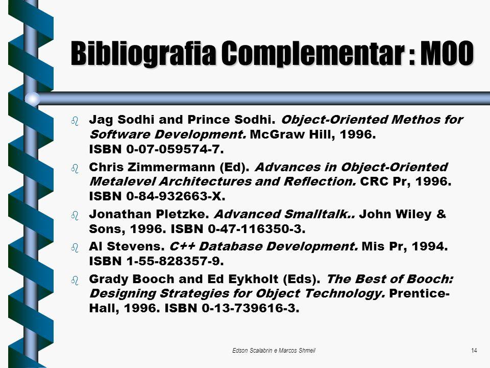 Bibliografia Complementar : MOO