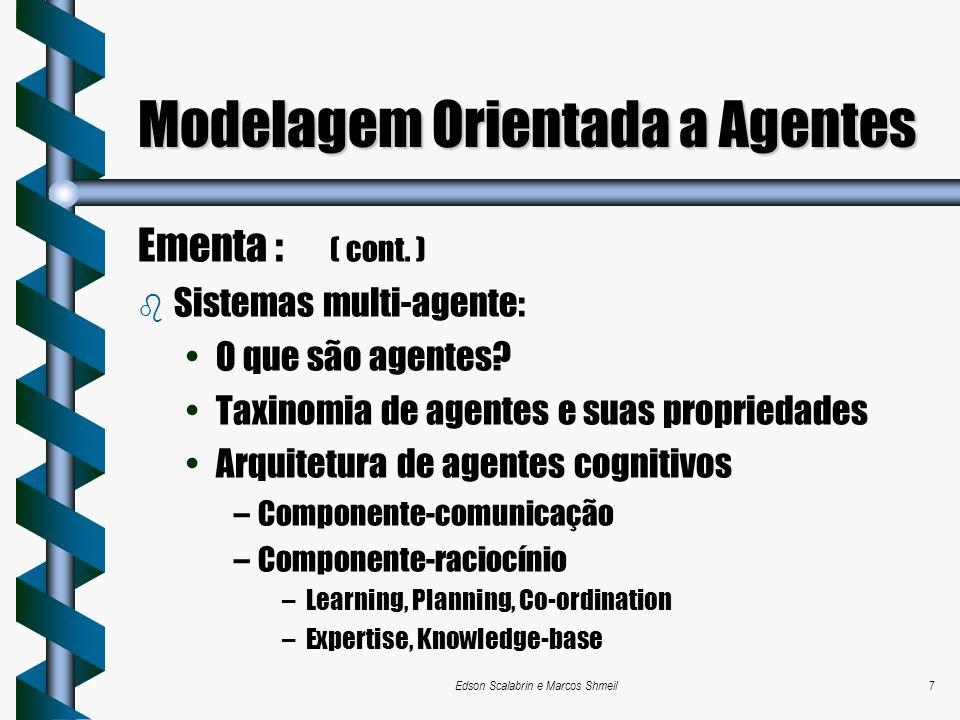Modelagem Orientada a Agentes