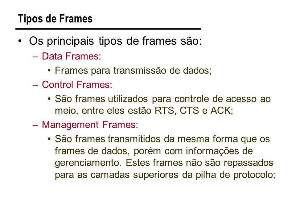 Os principais tipos de frames são: