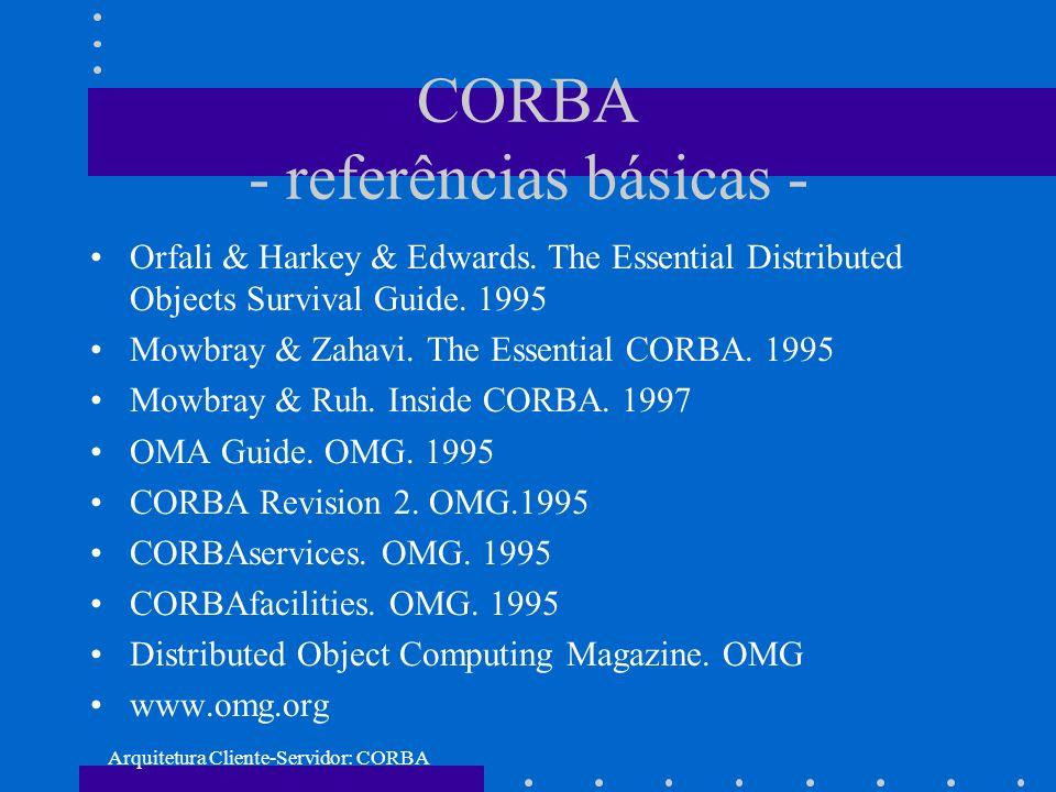 CORBA - referências básicas -