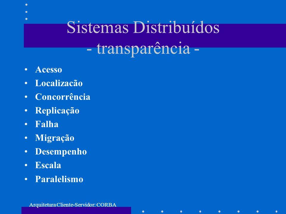 Sistemas Distribuídos - transparência -