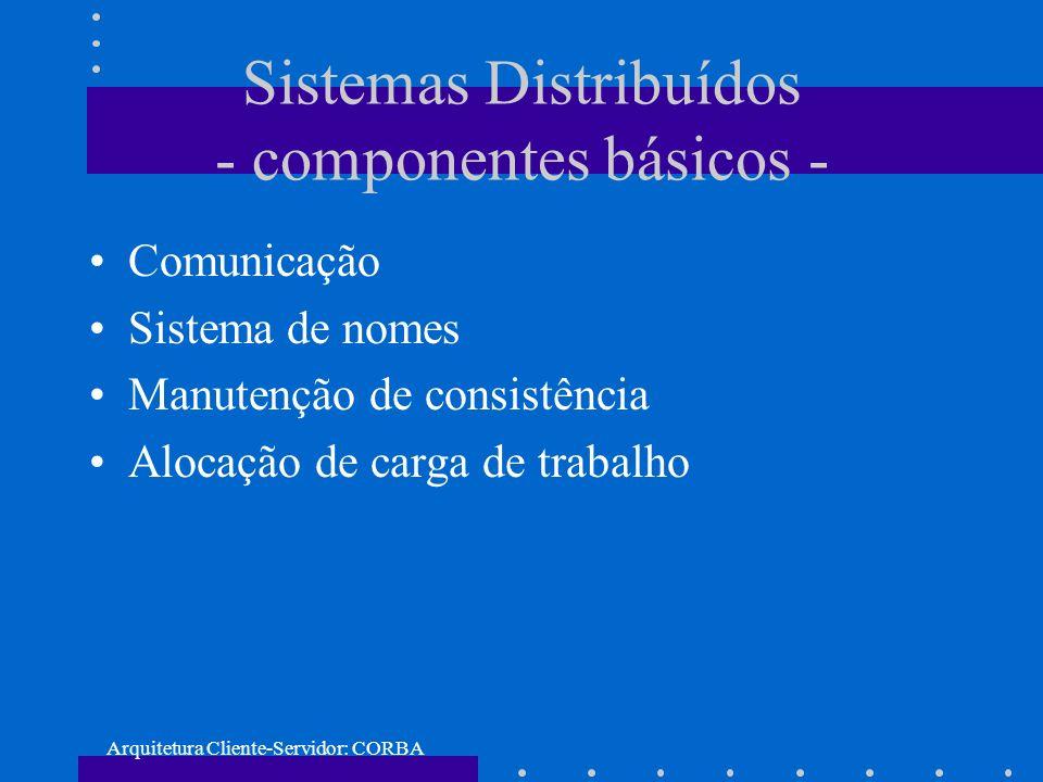 Sistemas Distribuídos - componentes básicos -