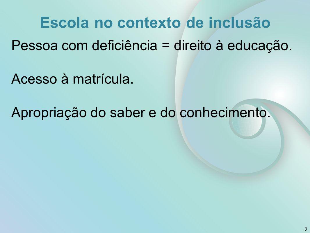 Escola no contexto de inclusão