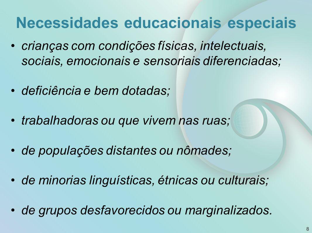 Necessidades educacionais especiais