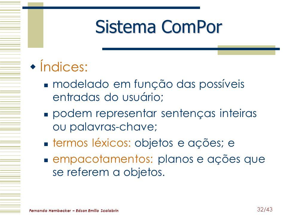 Sistema ComPor Índices: