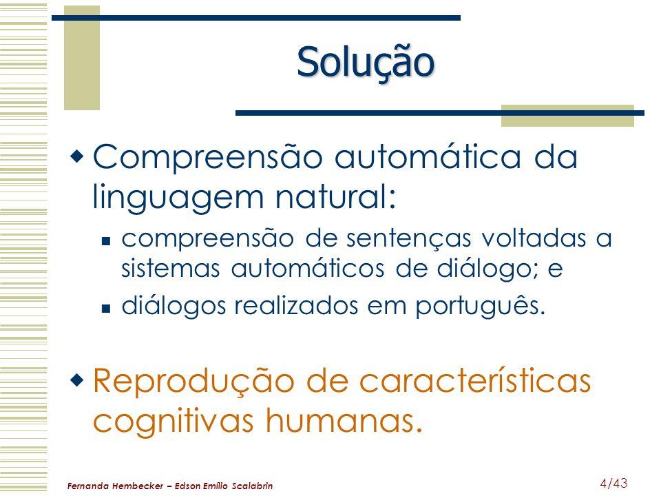 Solução Compreensão automática da linguagem natural: