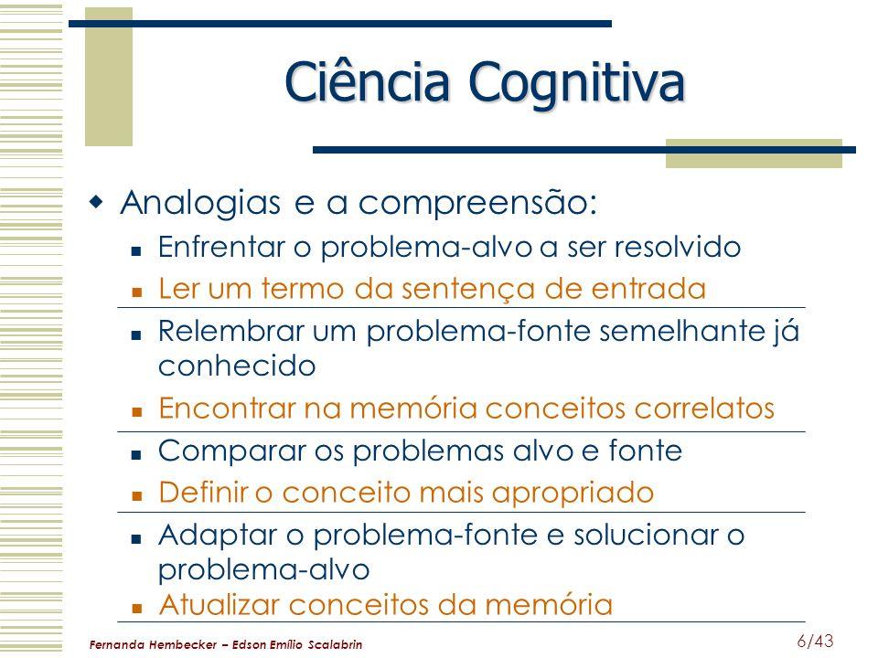 Ciência Cognitiva Analogias e a compreensão: