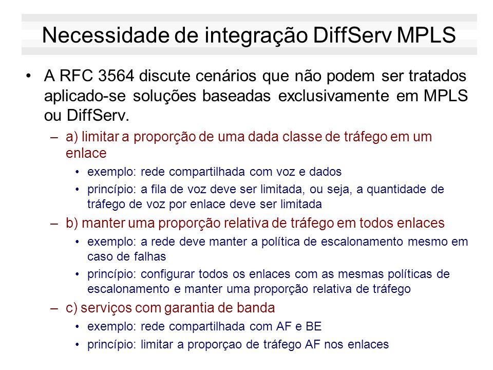 Necessidade de integração DiffServ MPLS