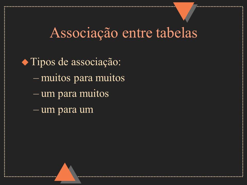 Associação entre tabelas