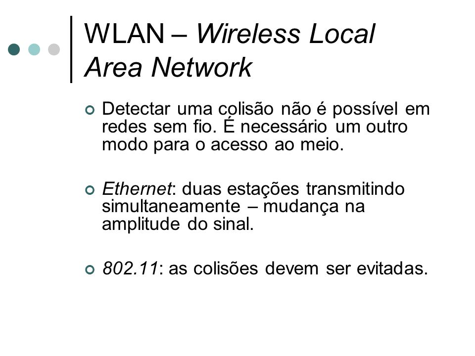 WLAN – Wireless Local Area Network