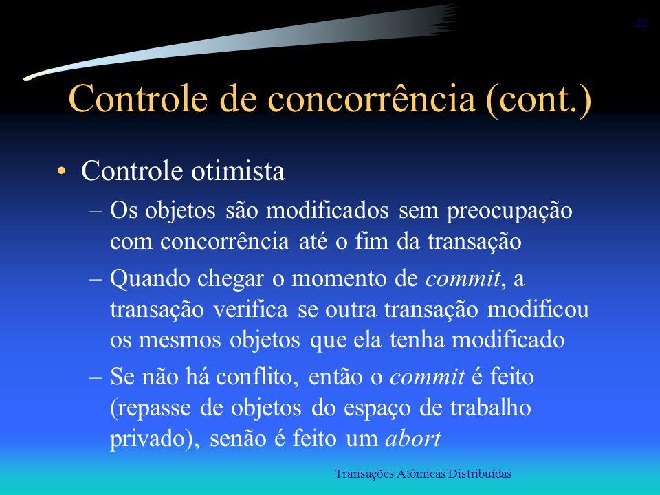 Controle de concorrência (cont.)