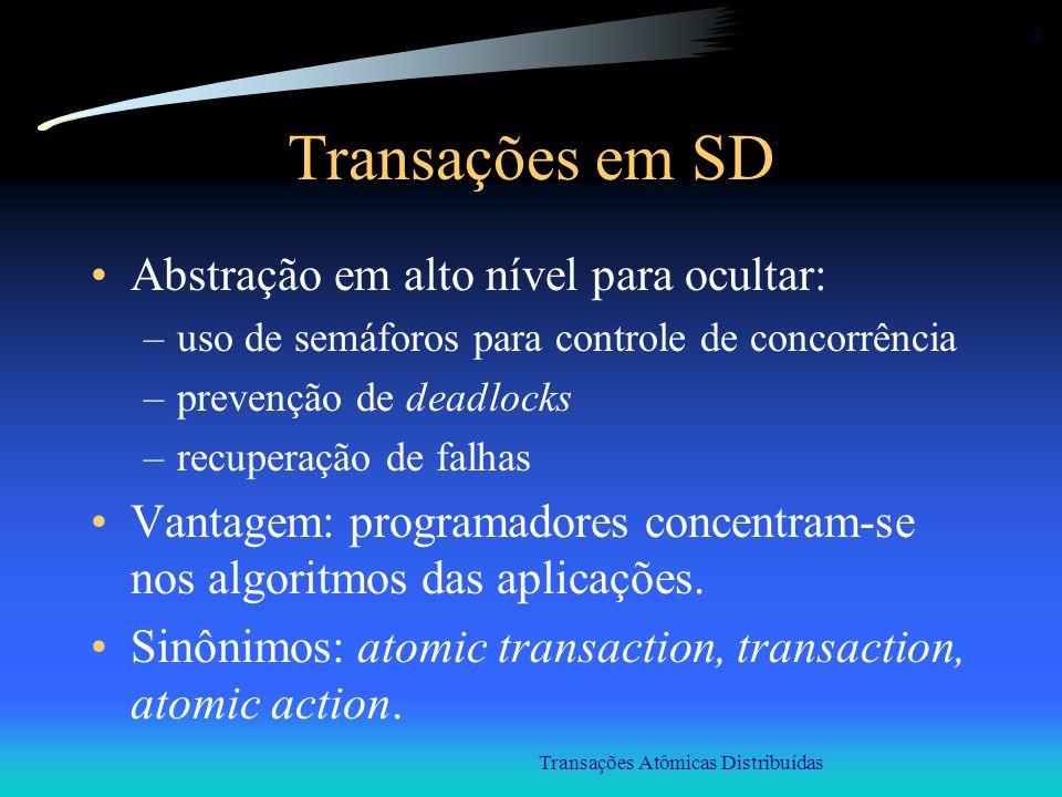 Transações Atômicas Distribuídas