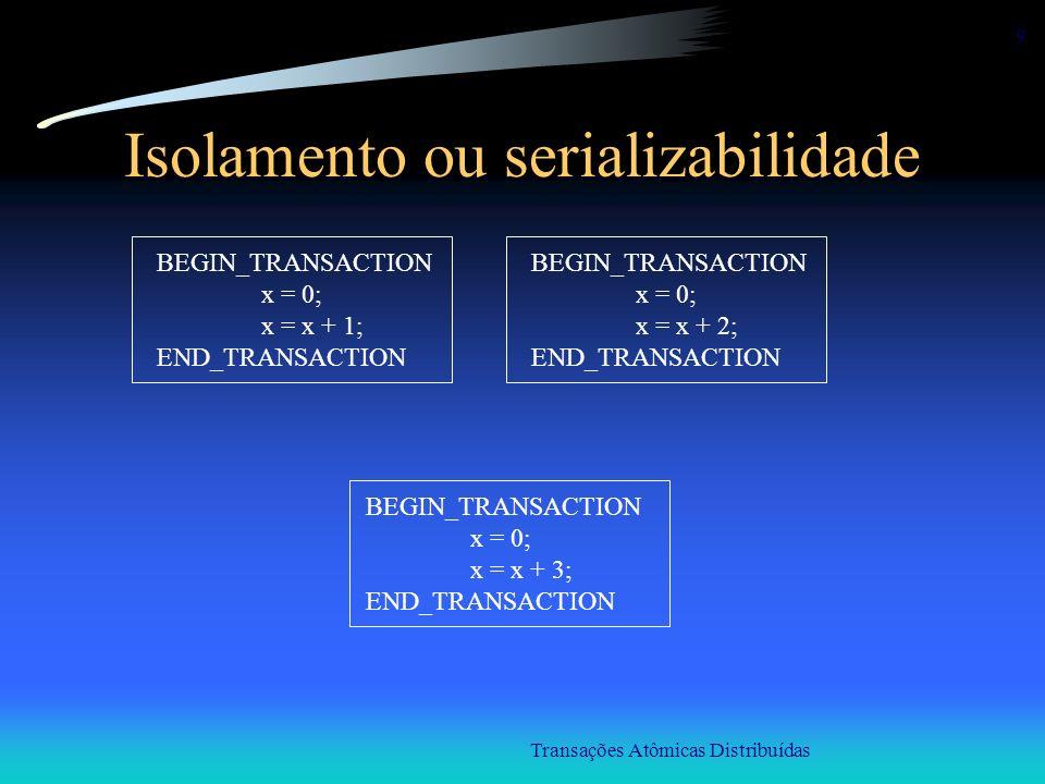 Isolamento ou serializabilidade