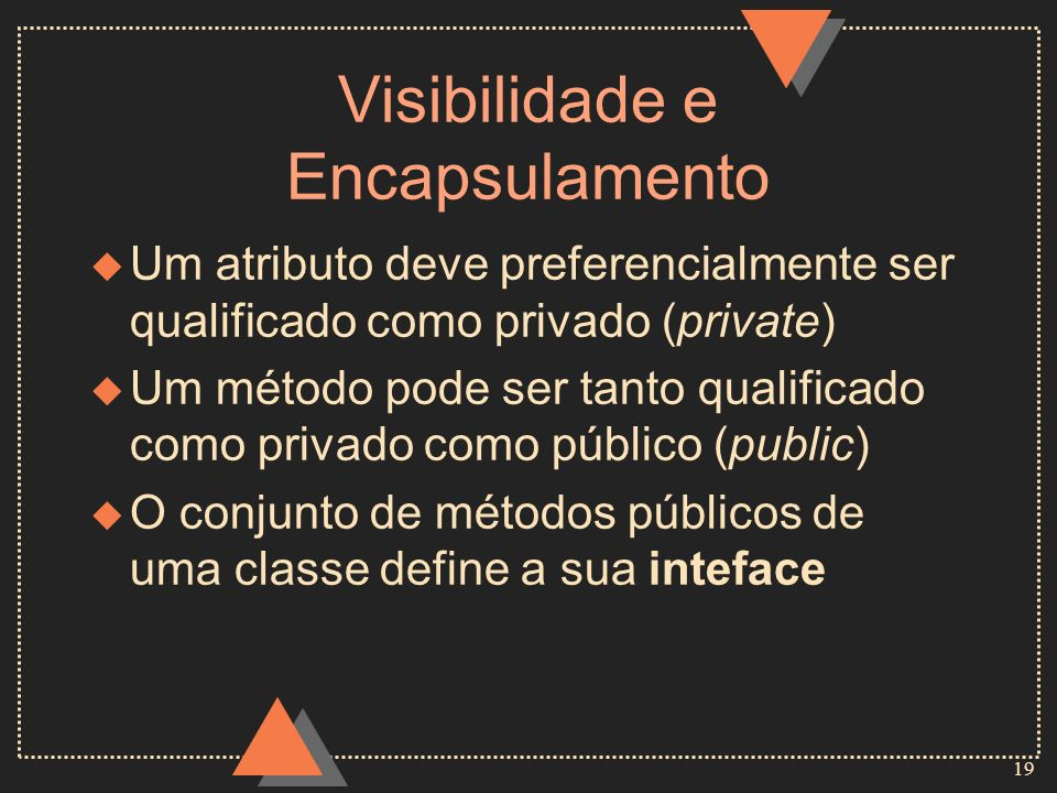 Visibilidade e Encapsulamento