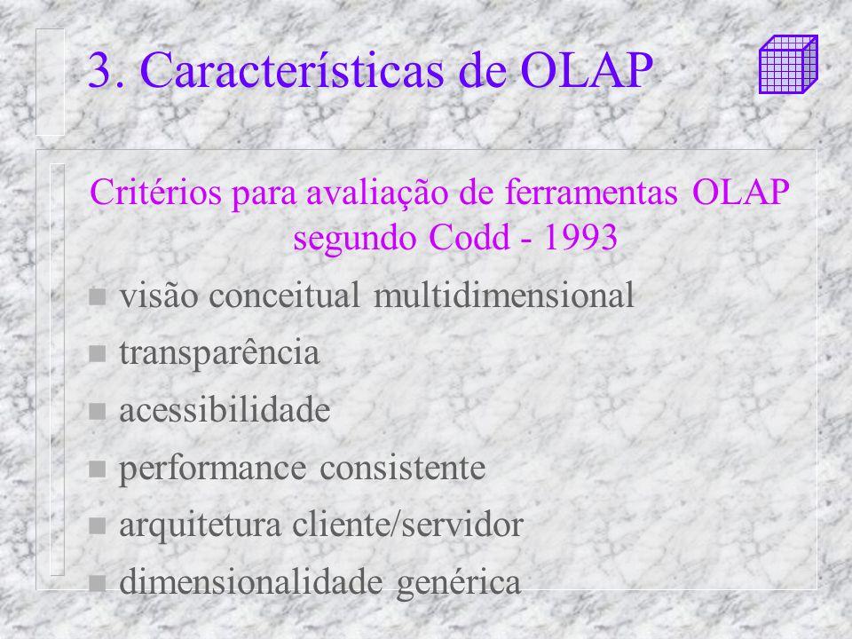 3. Características de OLAP