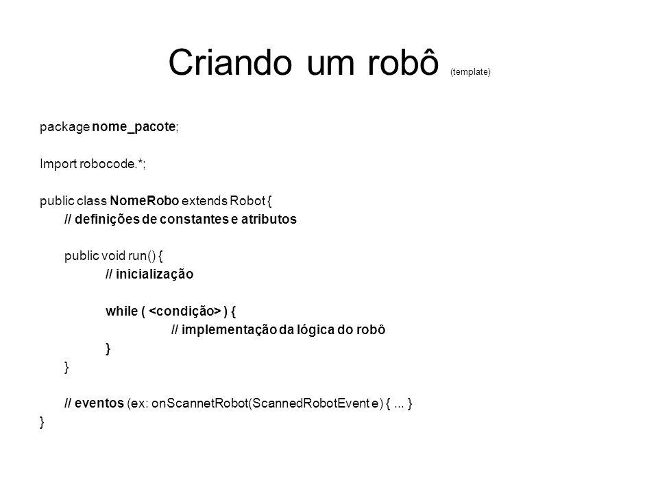 Criando um robô (template)
