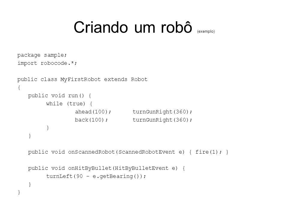 Criando um robô (exemplo)