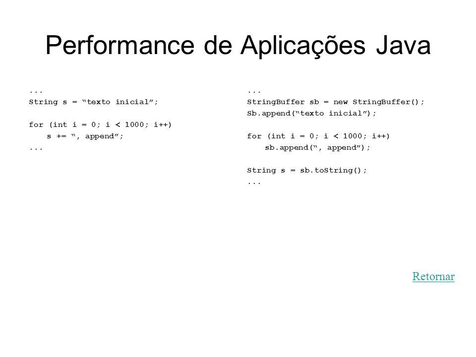 Performance de Aplicações Java