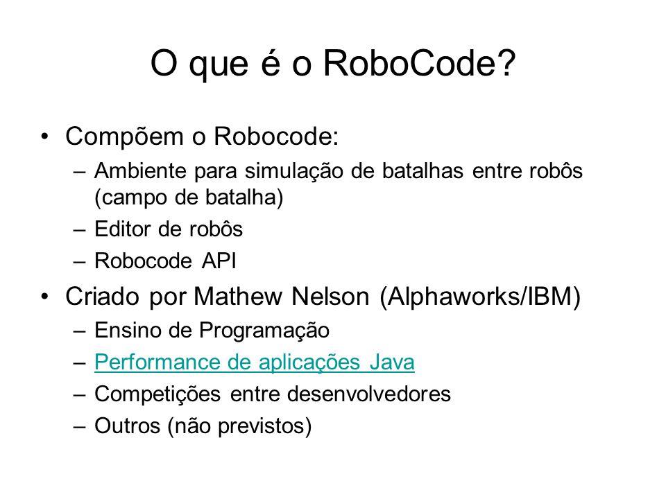 O que é o RoboCode Compõem o Robocode: