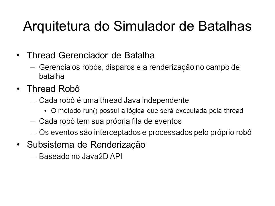 Arquitetura do Simulador de Batalhas