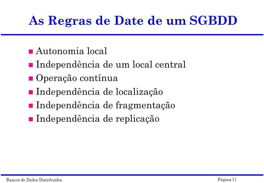 As Regras de Date de um SGBDD