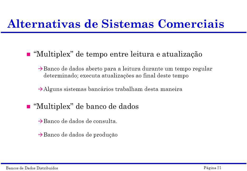 Alternativas de Sistemas Comerciais