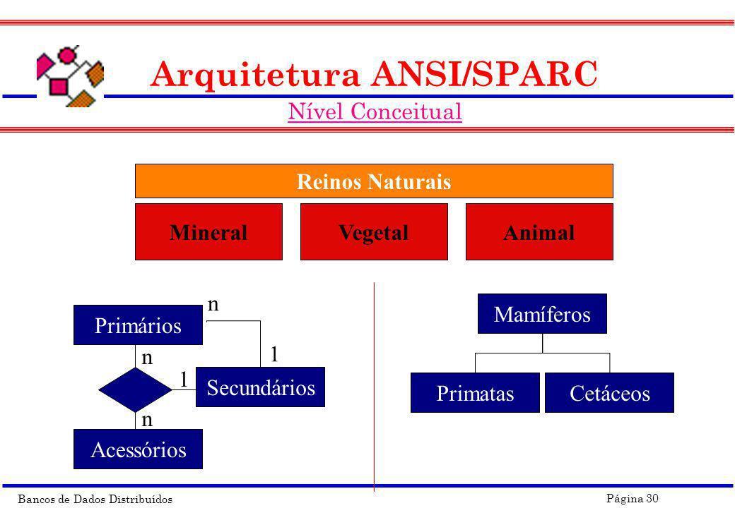 Arquitetura ANSI/SPARC Nível Conceitual