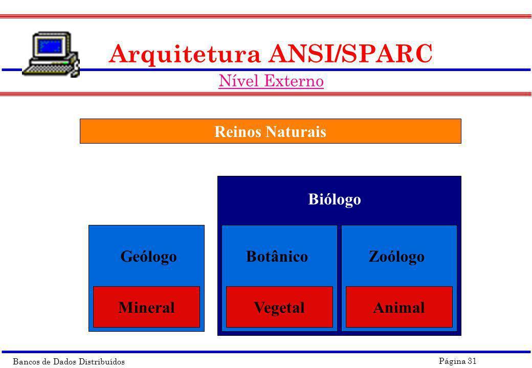 Arquitetura ANSI/SPARC Nível Externo