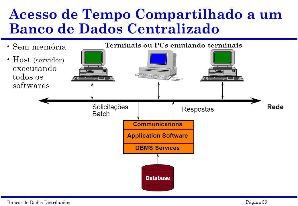 Acesso de Tempo Compartilhado a um Banco de Dados Centralizado