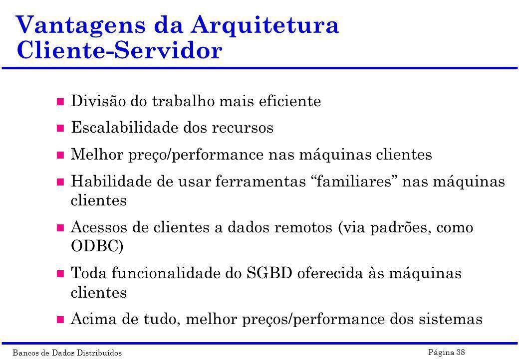 Vantagens da Arquitetura Cliente-Servidor