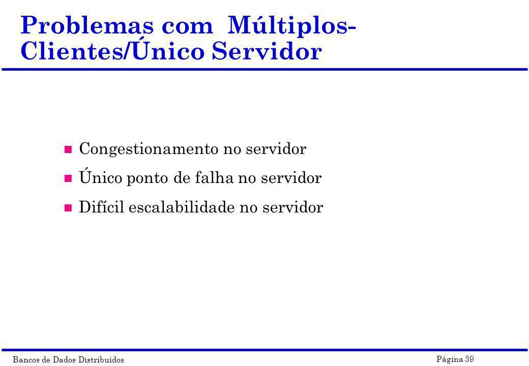 Problemas com Múltiplos-Clientes/Único Servidor