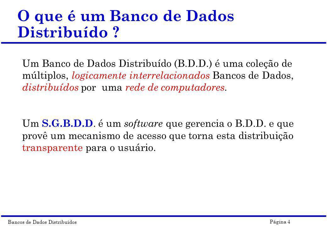 O que é um Banco de Dados Distribuído