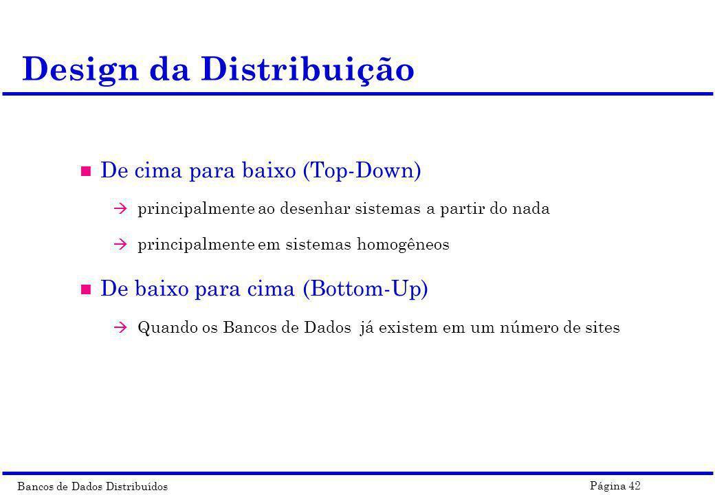 Design da Distribuição