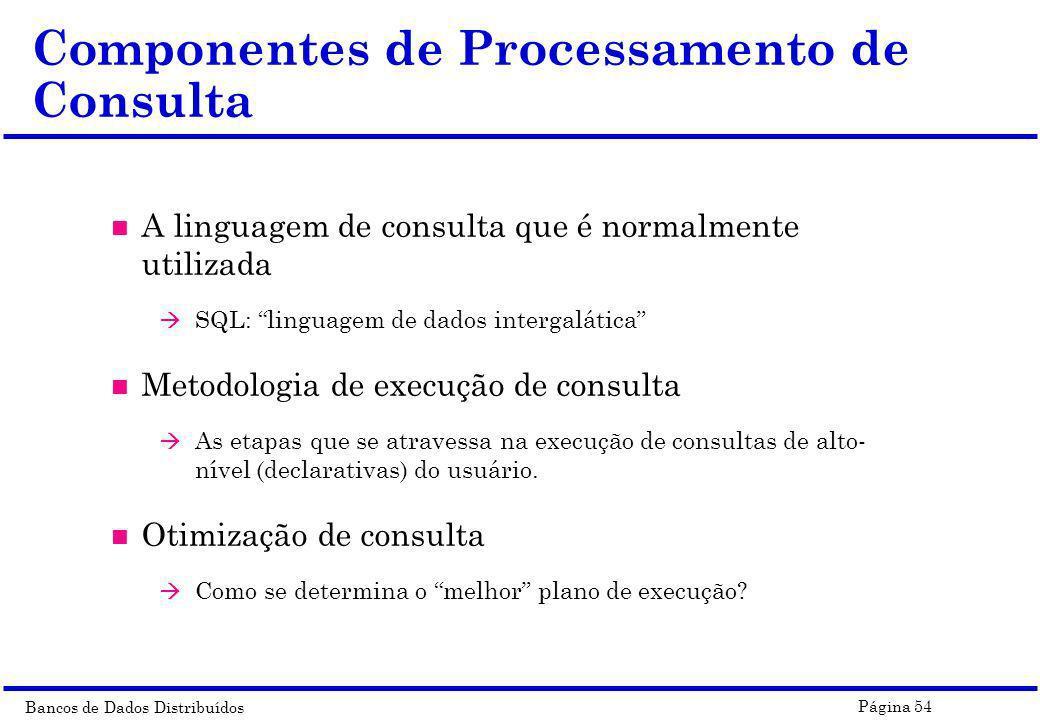 Componentes de Processamento de Consulta