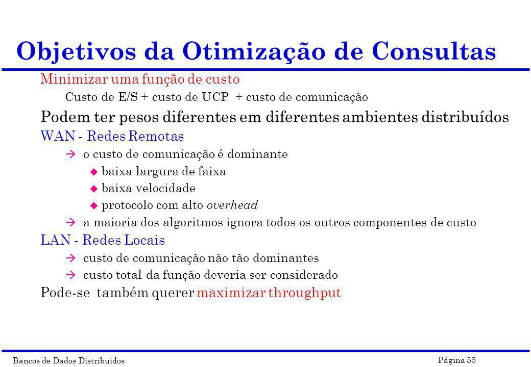 Objetivos da Otimização de Consultas