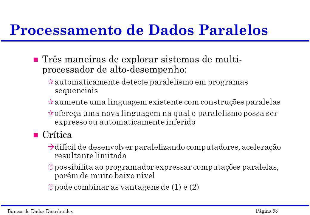 Processamento de Dados Paralelos