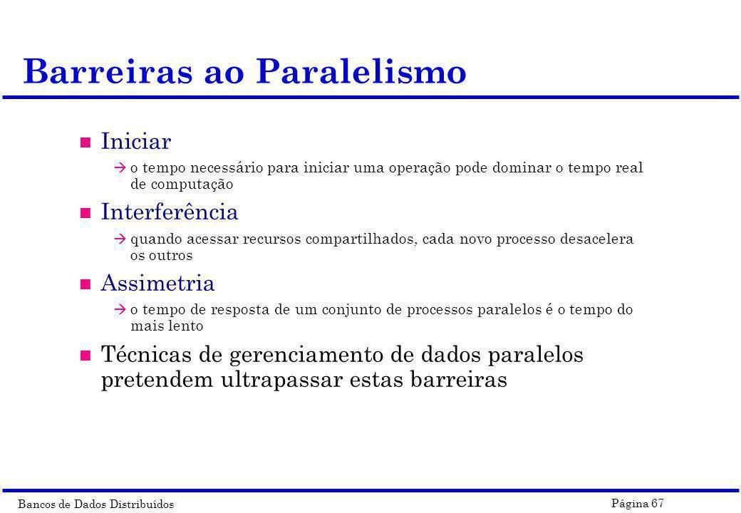 Barreiras ao Paralelismo
