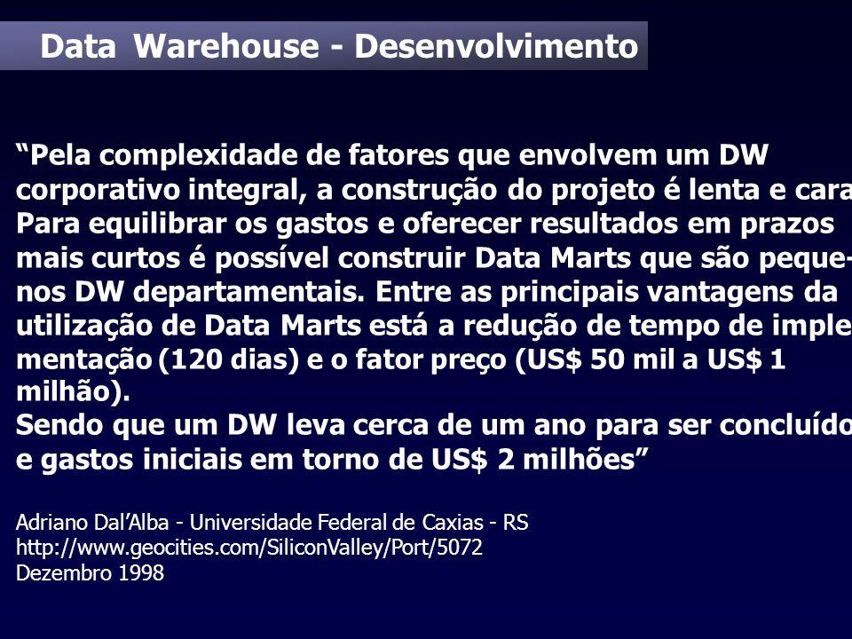 Data Warehouse - Desenvolvimento