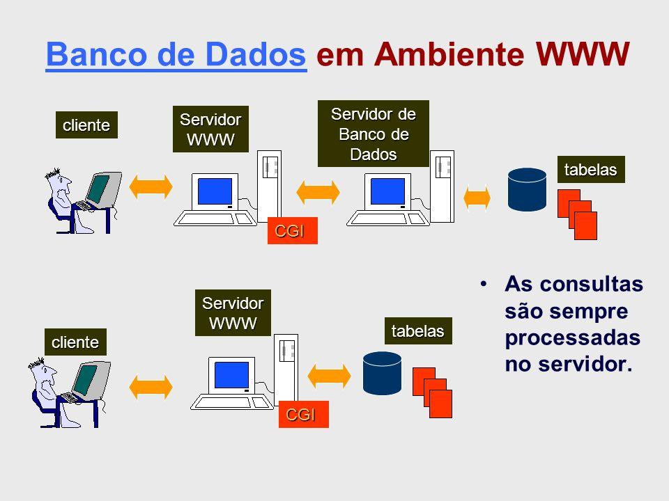 Banco de Dados em Ambiente WWW